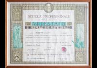 Diploma professionale Rossitti Giuseppe 1954