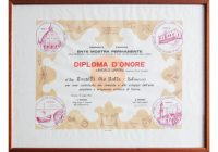 Ente mostra permanenete diploma d'onore 1974